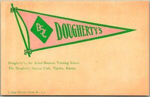 "TOPEKA, Kansas Postcard ""DOUGHERTY'S, The Actual-Business Training School"" 1910s"