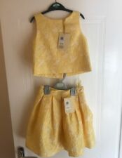 Girls John Lewis Heirloom Collection Girls' Floral Top & Skirt Yellow Age 6