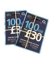 O2 SIM CARDS *100GB*  OFFICIAL LICENSED O2 DISTRIBUTOR