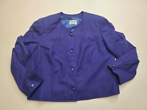 Vintage Ladies Blue Pendleton Blazer Size 20R 100% Wool
