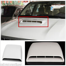 Car SUV Decorative Air Flow Intake Hood Scoop Vents Bonnet Cover White Universal
