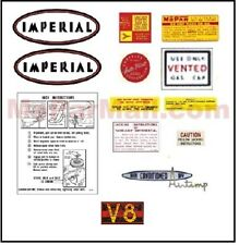Underhood & Trunk Decal Set for 1959 Imperial
