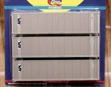 Athearn 40' containers - APL (steel)