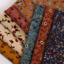 1m X 150cm Floral Print Corduroy Fabric for Sew Clothes Dress Diy Crafts Costume