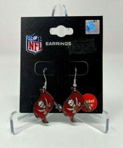 Tampa Bay Buccaneers NFL Team Logo, Licensed Dangle Style Earrings