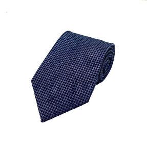 NWT TOM FORD Textured Tonal Blue Diamond Grid Dot Silk Tie
