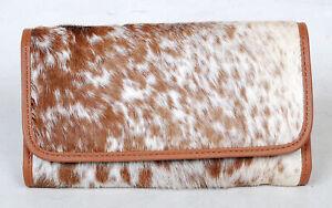 100% Real Cowhide Wallet Real Leather Hair ON Western Ladies Wallets  SA-3003
