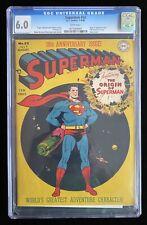 SUPERMAN #53 CGC 6.0 (8/48) ORIGIN OF SUPERMAN DC GOLDEN AGE 💥WHITE PAGES 💥