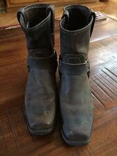Women's Frye Harness Boots Size 9.5 Brown Leather