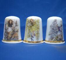 Birchcroft Thimbles -- Set of Three -- Hedgerow Fairies