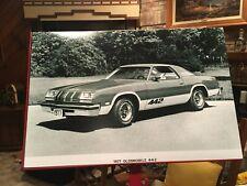 1977 GM OLDSMOBILE CUTLASS 442 350-403 ENGINES  PRESS KIT 12X18 PHOTO POSTER