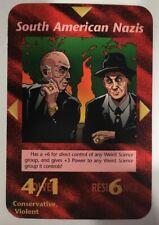 ILLUMINATI NEW WORLD ORDER CARD GAME TCG -SOUTH AMERICAN NAZIS NEAR MINT TO MINT