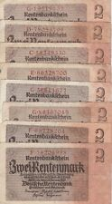 8x ro.167b/2 Rentenmark/Deutsches Reich/1937
