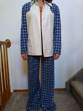 Vintage Vinyl & Wool Womens Suit Outfit Set Jacket & Pants Large