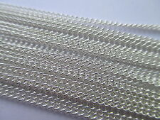 UK 1 Metre Silver Jewellery Curb Closed Link Necklace Chain 2mm x 1.5mm approx