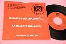 """STORMY SIX 7"""" EP LA BALLATA DELLA DC 4 CANZONI ORIG '70 EX"""