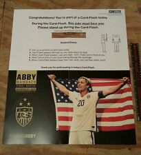 ABBY WAMBACH FINAL MATCH TEAM USA DEC. 16TH CARD FLASH SIGN SGA NEW ORLEANS