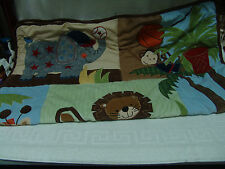CURIOUS GEORGE MONKEY JUNGLE BABY CRIB NURSERY BEDDING SET 10 PCS PRE OWNED