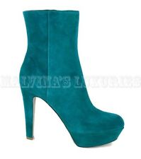 $785 SERGIO ROSSI ANKLE BOOTS SUEDE LEATHER BOOTIES HIGH HEEL 40 10