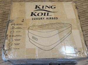 King Koil Twin Air Mattress with Built-in Pump - Double High Elevated
