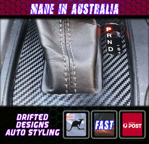 Carbon Shift Trim sticker Fit ford Ranger MK2 Auto - Carbon Matte Finish