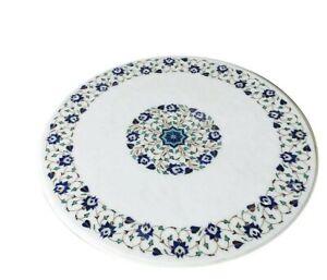 "30"" Marble center Table Top pietradura inlay semi precious stone art work"