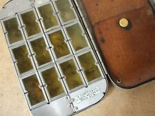 Vintage early A CARTER & Co, Bond St, dry fly box + flies  **Very Very Rare**