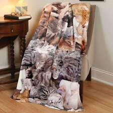 Photo-Real Cat Lovers Fleece Throw Blanket