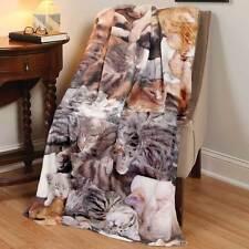 Photo-Real Cat Lovers Fleece Throw Blanket