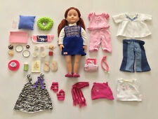 """18"""" Our Generation Lenaya Doll American Girl Clothing Outfits Accessories Lot"""