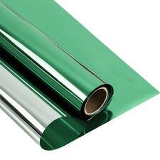 Plata y Verde Casa Edificio Tintado Película Pegatina Reflectante Privacidad Vidrio