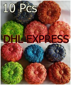 10Pcs Pin Cushion Pillow Handmade Thai Vintage Pumpkin Multi - Color Sewing Tool