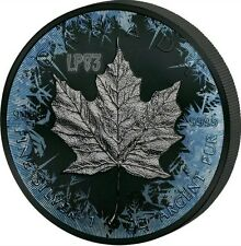 2017 1 Oz Silver DEEP FROZEN MAPLE LEAF, Ruthenium & Platinum Coin..   ON HANDS.