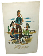VINTAGE RESTAURANT MENU 1950's Bannock Western Hotel Pocatello Idaho Cowboy