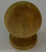 """5 x Post Ball & Collar Finial 4"""" (100mm) with Post Finial Base & Screw"""