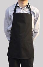 Wholesale Job Lot 20 Brand New Mens Womens Short Black Bib Aprons Work Chef Cook