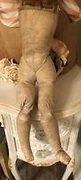 "Antique 19 1/2"" Straw Filled FRENCH FASHION Body French Doll Bonus Corset"