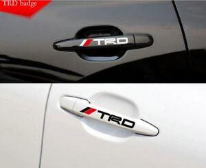 4Pcs/set TRD Door Handle Car Sticker Racing Development TRD Logo For TOYOTA