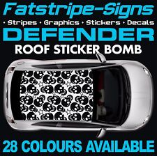 LAND ROVER DEFENDER GRAPHICS ROOF STICKER BOMB STRIPES DECALS 90 110 127 130 4x4