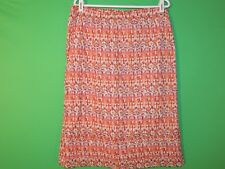 Eddie Bauer Womens Size M Medium Colorful Geometric Casual Skirt