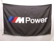 BMW M Power Grey Flag Sign Banner - M1 M2 M3 M4 M5 M6 M Roadster Coupe X5 X6 X4