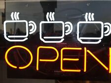 "New Coffee Cafe Open Bar Beer Man Cave Neon Light Sign 32""x24"""