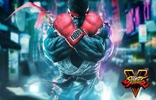Street Fighter V RYU - Beautiful Wall  Poster - 34 in x 22 in - Fast Shipping