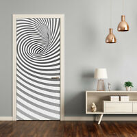 3D Wall Sticker Decoration Self Adhesive Door Wall Mural Spiral with stripes