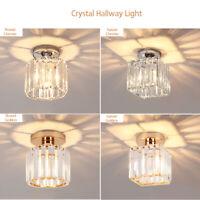 Neuf Design Véritable Cristal Couloir Lampe Plafonnier Lustre Sans E27 Ampoule