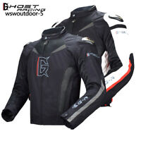 Men's Motorcycle Jacket with Removable Protective Gear Motorbike OFF Road Coats