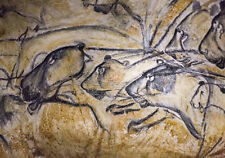 First Cats To Roam 30,000Yr Old Cave Painting Lion Prehistoric Art Canvas Print