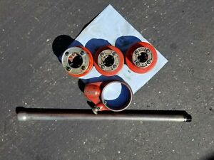 ridgid pipe threading 12R Dies, ratchet head and handle