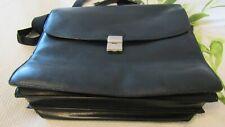 TEXIER Black Leather Briefcase