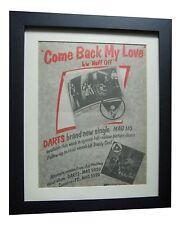 DARTS+Come Back My Love+POSTER+AD+RARE ORIGINAL 1978+FRAMED+EXPRESS GLOBAL SHIP